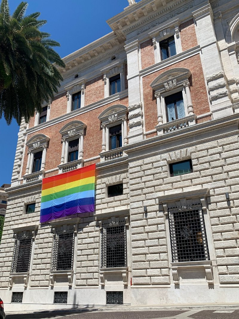 US embassy in Vatican flies Pride flag outside its building for month of June | The Independent