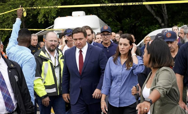 DeSantis feuds with Trump over Florida rally amid condo collapse search