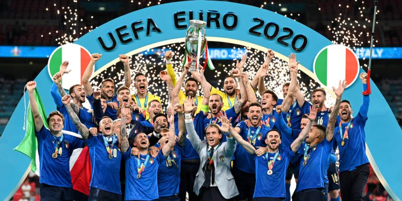 Italy wins the European soccer championship in 3-2 penalty shootout