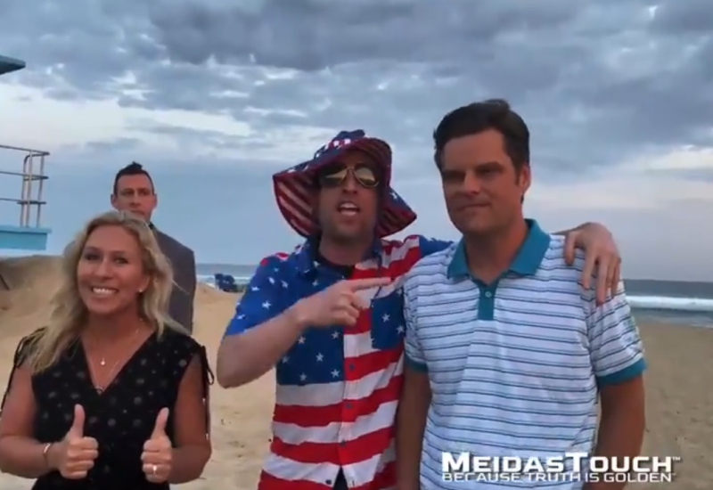 Matt Gaetz Wails About His Free Speech Rights, Then Rips 'Loser' Protesters Sounding Off
