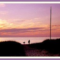 Beachcombers at Dusk, Cape May, New Jersey