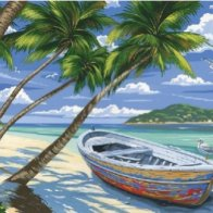 Screengrab-Tropical_Beach_(Row_Boat_on_Beach)_Acrylic_Paint_by_Number_11.5_x15.5_Colart_-_2017-07-09