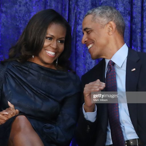 former-us-president-barack-obama-and-first-lady-michelle-obama-in-picture-id917433514