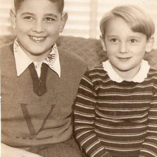 Buzz age 5 with big bro.