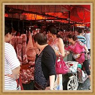 Shopping for meat and fish in the Chengdu wholesale market