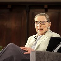 Ruth Bader Ginsburg praises Brett Kavanaugh for 'making history' by hiring an all-female law clerk crew, marking the first time ever women make up a majority of Supreme Court clerks