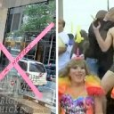 Libs vandalize Chick-fil-A during gay pride parade, ignore beating of gay conservative