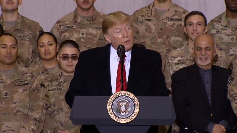 President Trump arrives in Afghanistan for surprise Thanksgiving visit with troops