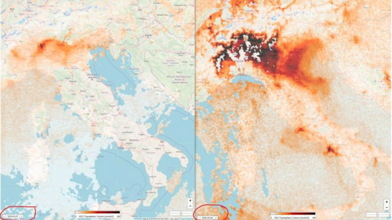 Satellites Show Italy's Air Pollution Dissipating as Covid-19 Outbreak Worsens