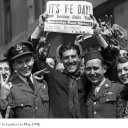 VE Day is celebrated in America and Britain