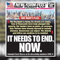 End New York City's lockdown now!