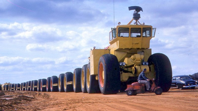 The Incredible Story of the US Army's Earth-Shaking, Off-Road Land Trains - The Drive