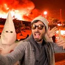Unity At Last: Klansman And Rich Liberal Activist Join In Celebration As Black Neighborhood Burns Down