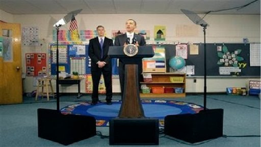 Obama in classroom with teleprompter.jpg