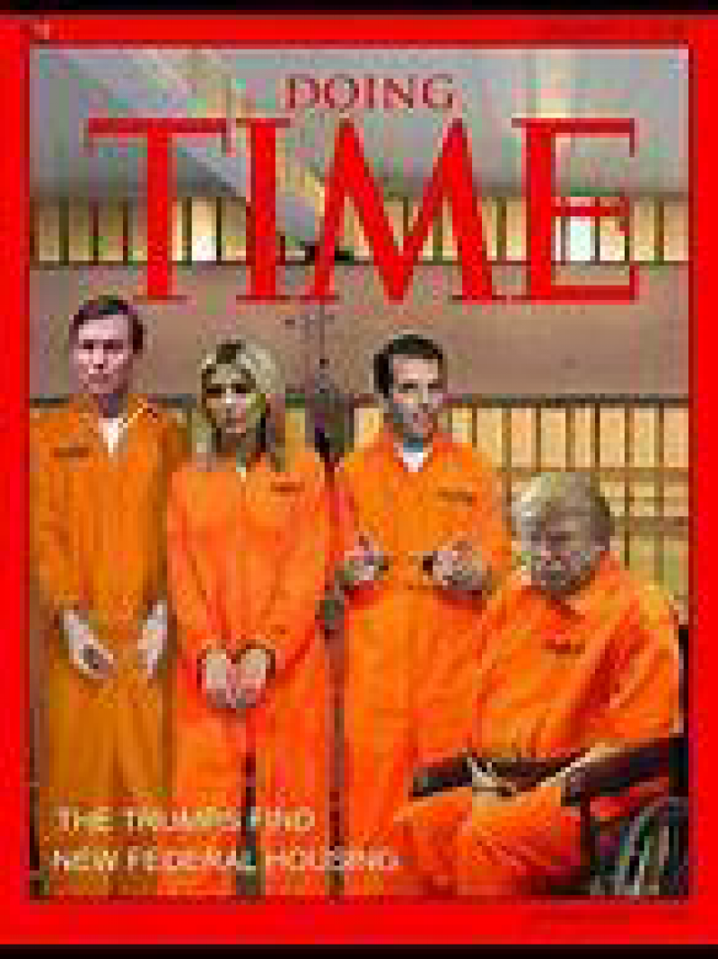 Trump and Family in Orange Jumpsuites.jpg
